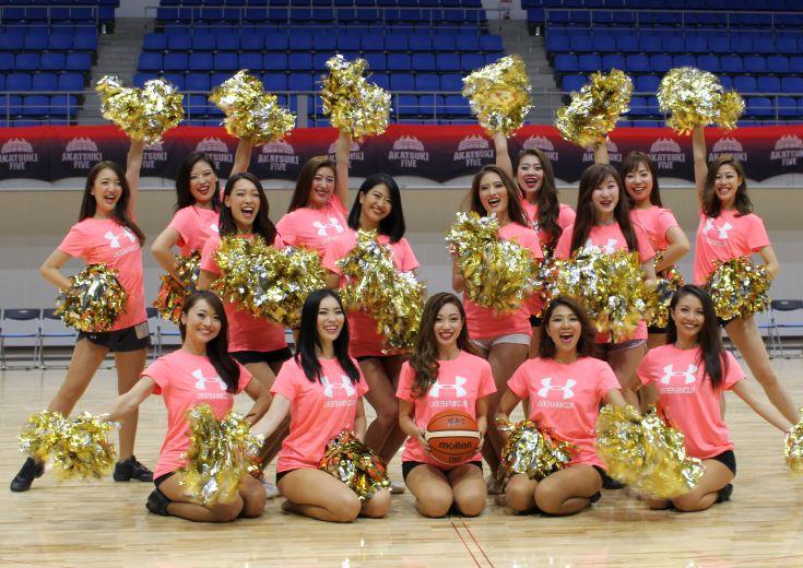 バスケットボール日本代表のオフィシャルチアリーダーズ『AKATSUKI VENUS』が始動!