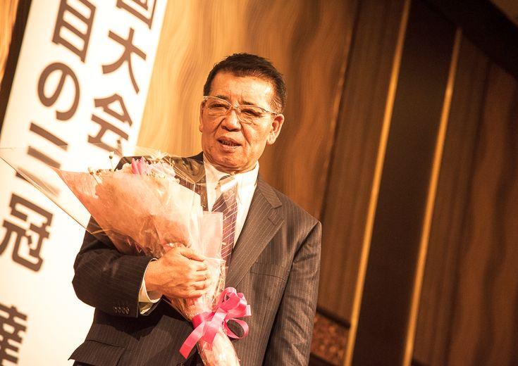 桜花学園の優勝祝賀会、70歳の井上眞一監督が今後に向けた抱負を語る「東京オリンピックに5人ぐらいは卒業生を」