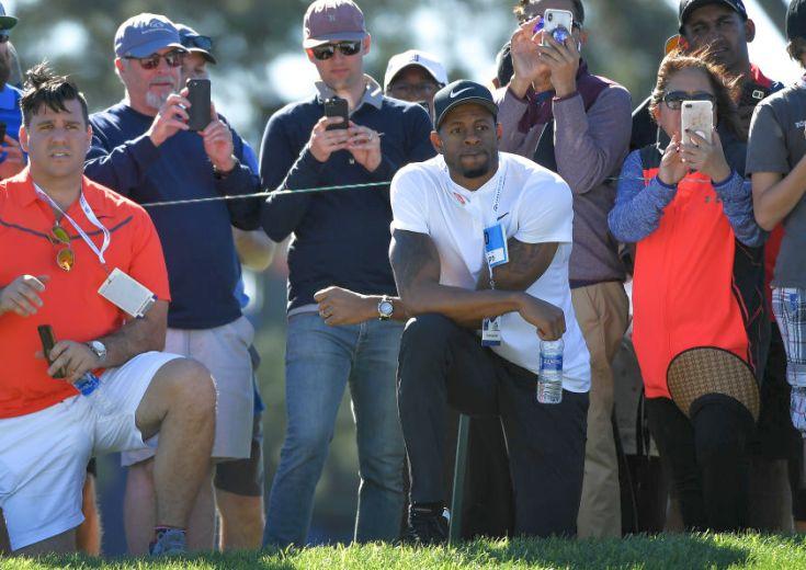 34歳になったイグダーラがゴルフ観戦、タイガー・ウッズと会って刺激を受ける