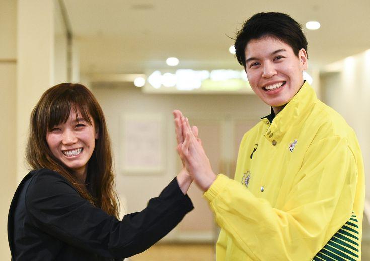 高校同期の日本代表コンビ水島沙紀&渡嘉敷来夢(後編)「日本代表もWリーグも、私たちが女子バスケを引っ張ります!」