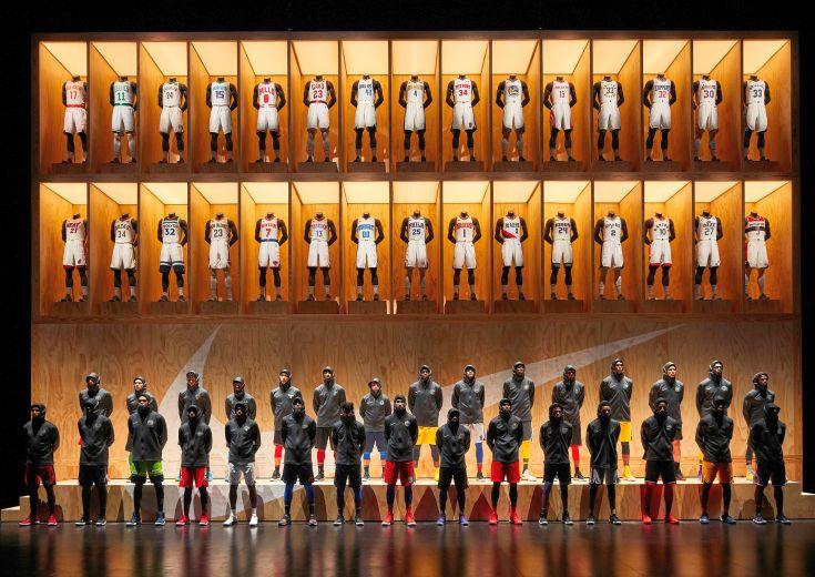 新シーズンからNBA30チームのジャージーを手掛けるナイキのイベントで、30チームの選手が新テクノロジーをお披露目
