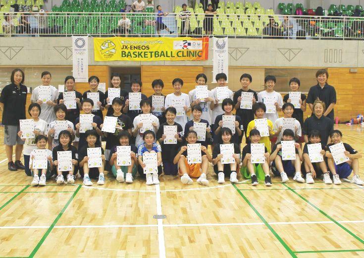 女子バスケ界を牽引するJX-ENEOS、中学生を対象にスキルアップと人間育成を目的としたサマーキャンプを実施