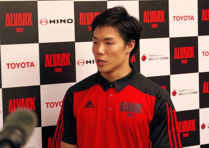 アルバルク東京でプロキャリアの第一歩を踏み出した馬場雄大「やるからには倒す勢いでやりたいですし、今から楽しみです」
