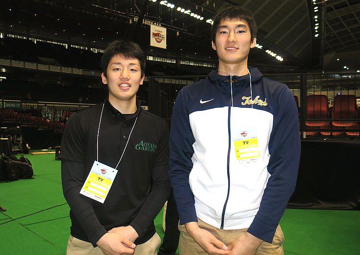 納見悠仁(青山学院大)&平岩玄(東海大)、2017年期待の大学生がウインターカップと今後の目標を語る