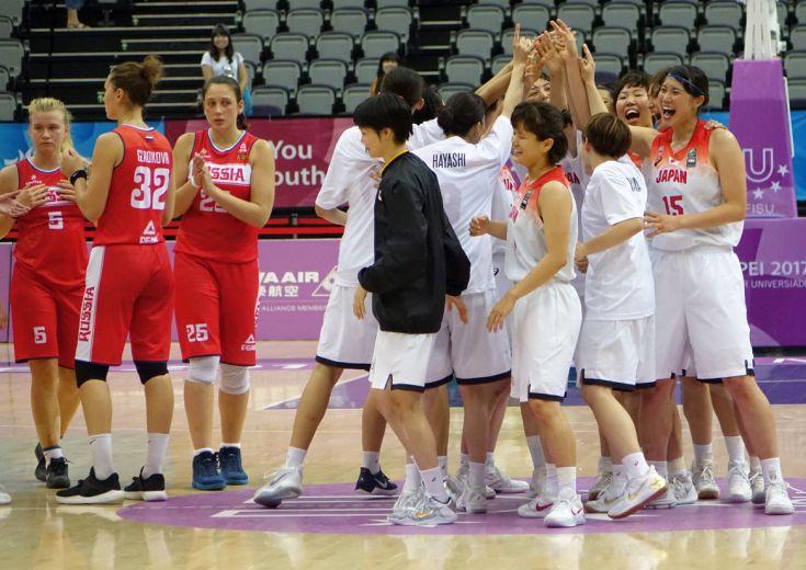 女子日本代表がロシアに快勝しユニバーシアード決勝進出の快挙! 1995年大会以来となるメダル確定も「必ず金メダルを」