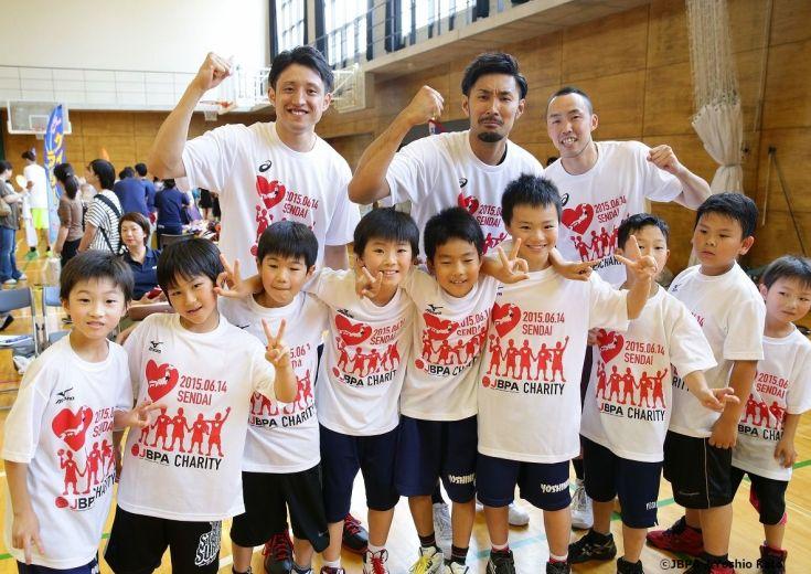 今週日曜日、日本のトッププレイヤーが福島の子供たちと交流