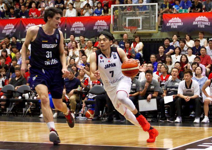 新体制となった日本代表での初戦、勝負の第4クォーターでフル出場した篠山竜青だが「むしろ危機感のほうが大きいです」