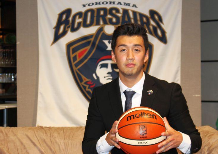 横浜ビー・コルセアーズが新体制発表を実施、『アメリカ帰り』で注目されるルーキー田渡凌は目標を「優勝!」と高く掲げる